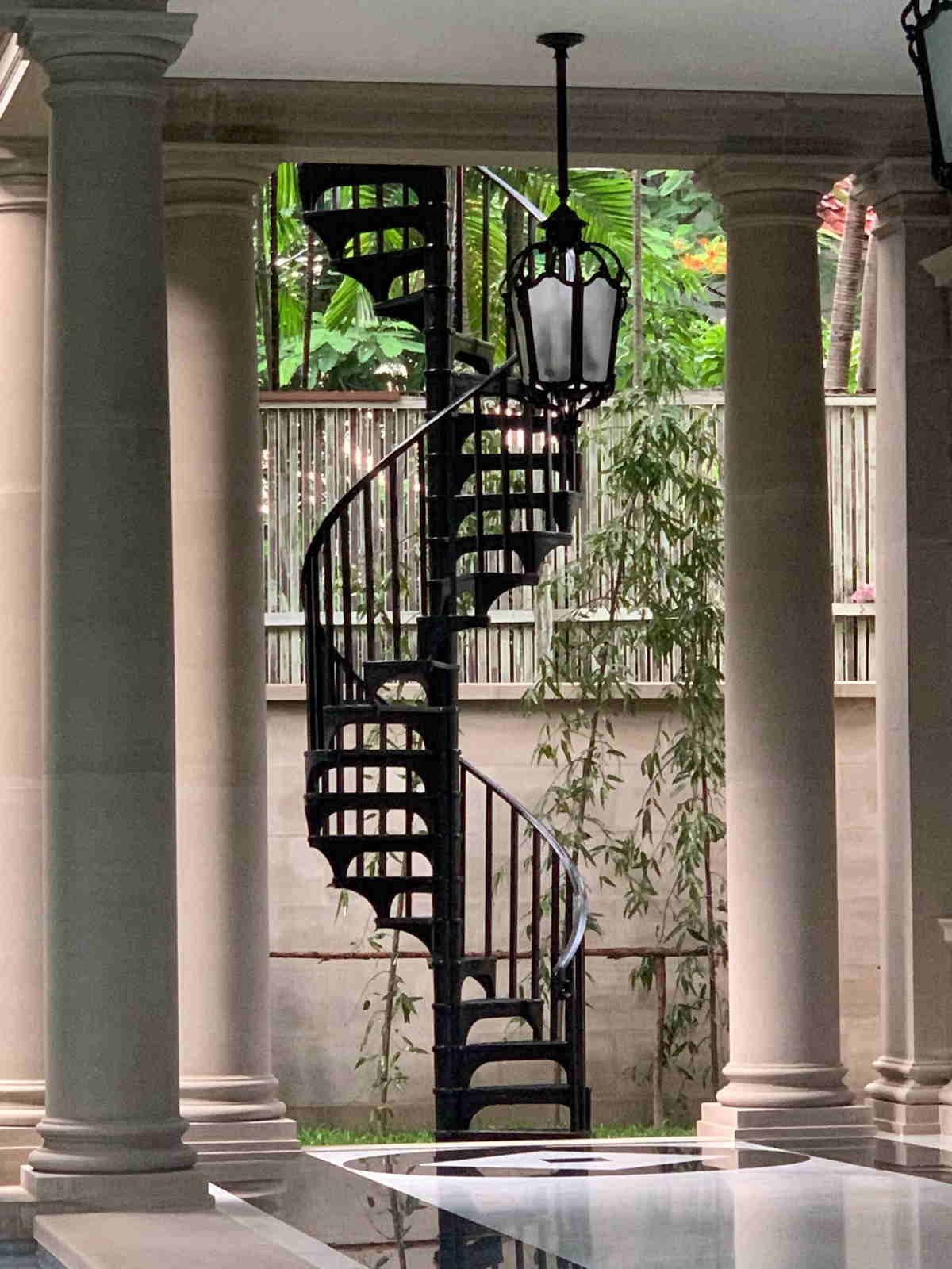bespoke iron spiral staircase
