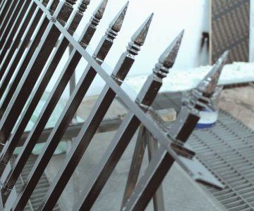 Railings with Hand Forged Finials 1